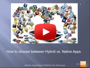 How to Select Between Hybrid vs. Native Apps - with data base integration explanation