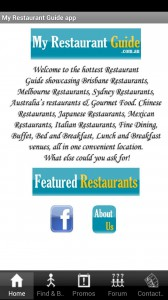 My Restaurant Guide app