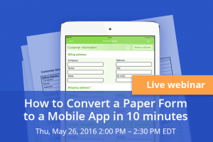Free webinar. mobile forms