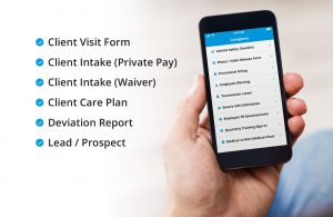 In Home Care Provider App Forms